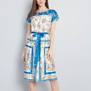 Modcloth Dress Sunlit Reverie Flowers Nwt XS